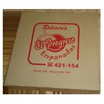 Caja en corrugado para empanadas